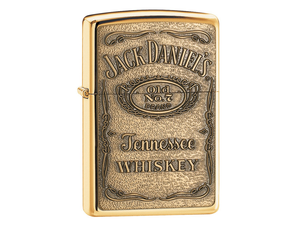 Zippo Jack Daniels High Polish Brass – utan gravyr