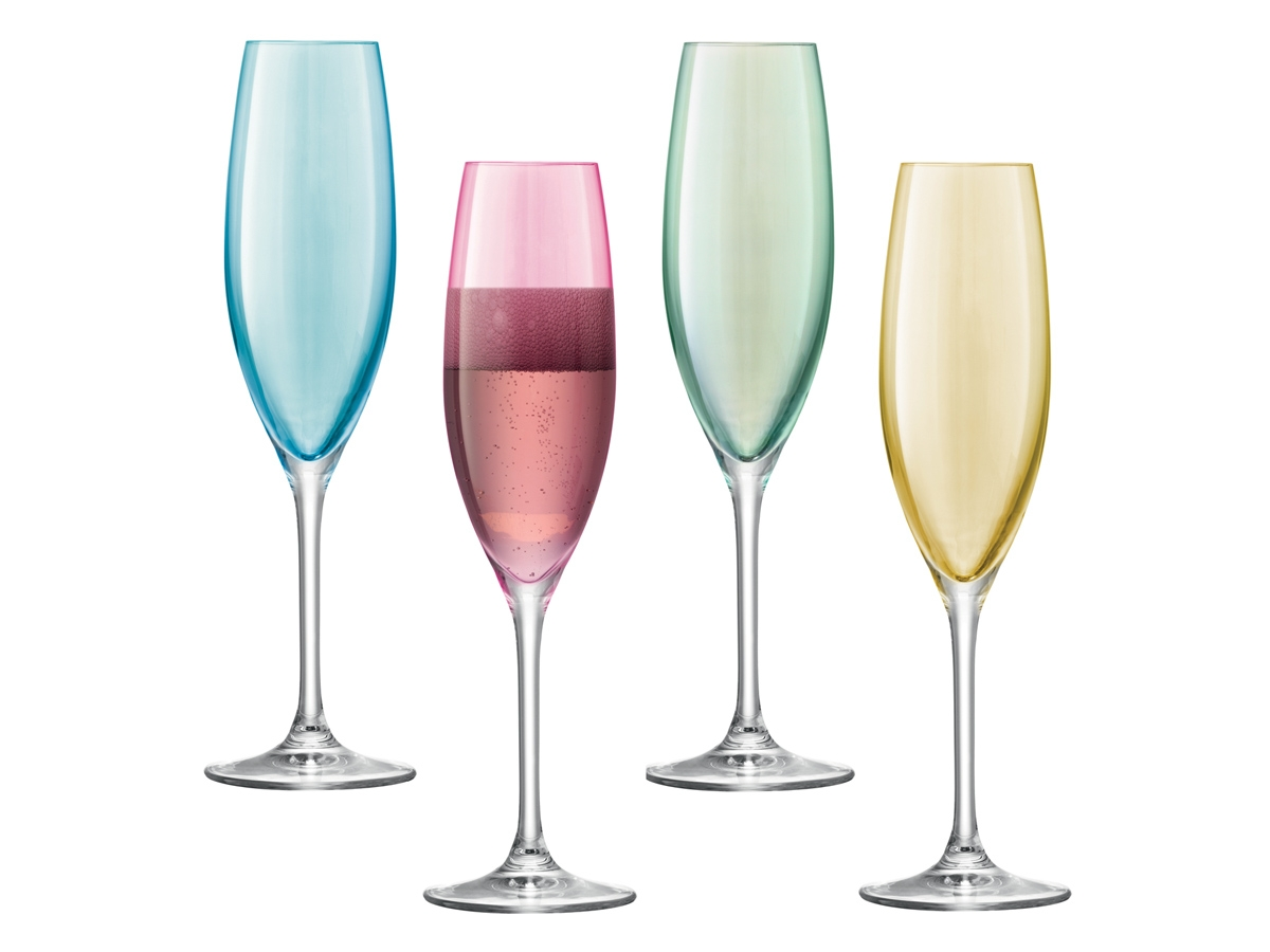 Champagneglas LSA Polka Pastel 4-pack ? utan gravyr