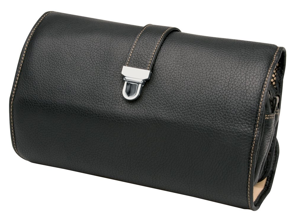 Necessär Erbe Travel Black Leather - utan gravyr