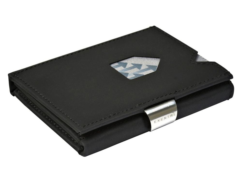 Kortplånbok Exentri Nubuck Black – utan gravyr