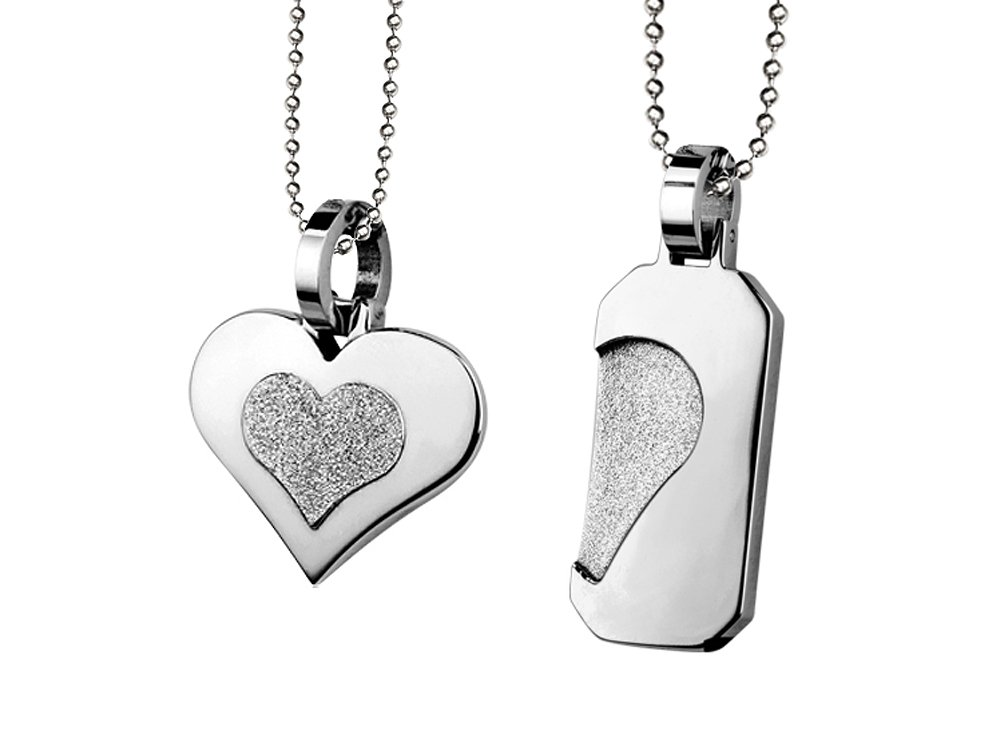 Par Halsband Inori Steel Lovers - utan gravyr