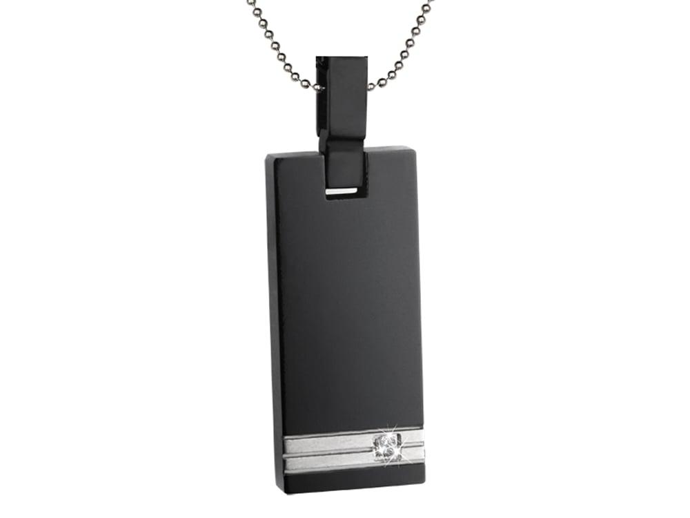 Halsband Inori Titanium Black - utan gravyr