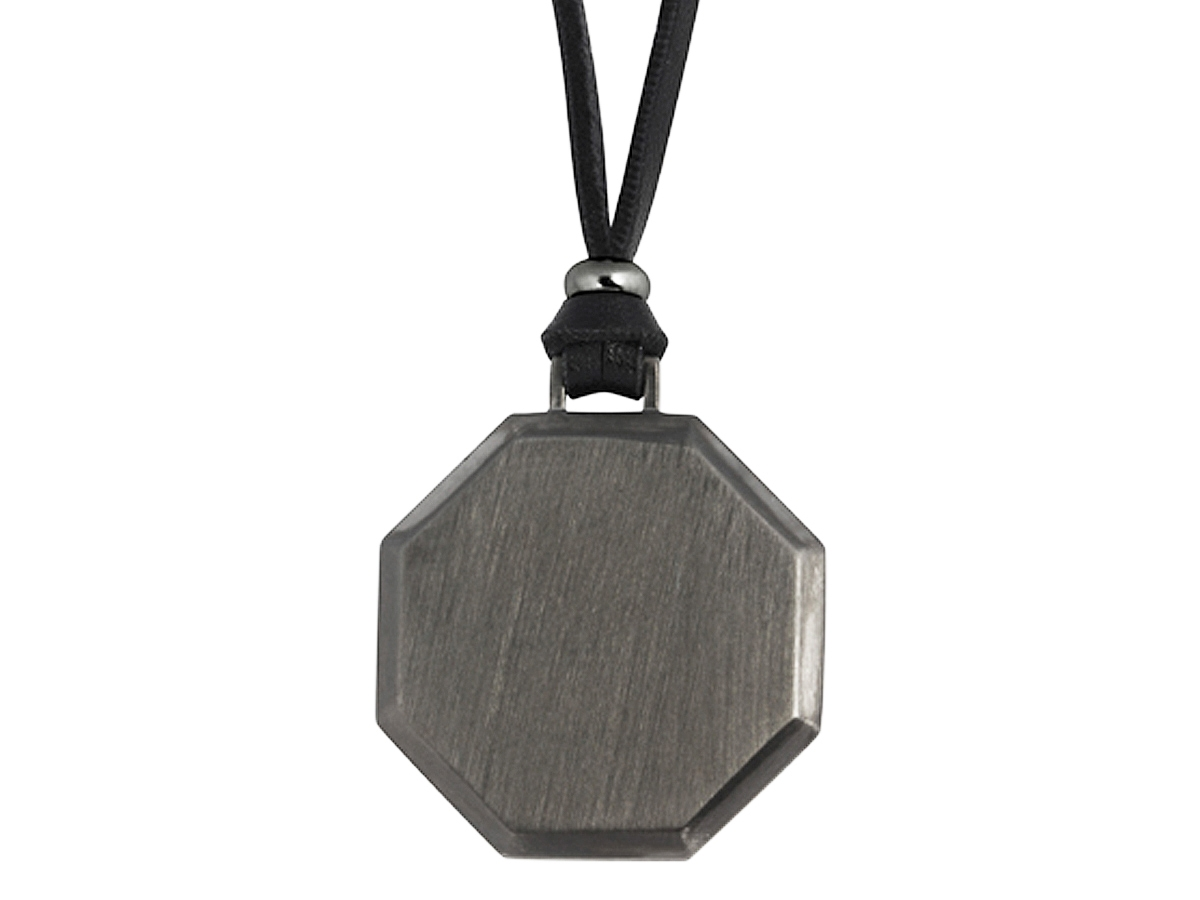 Halsband Octagon Gun Metal - utan gravyr