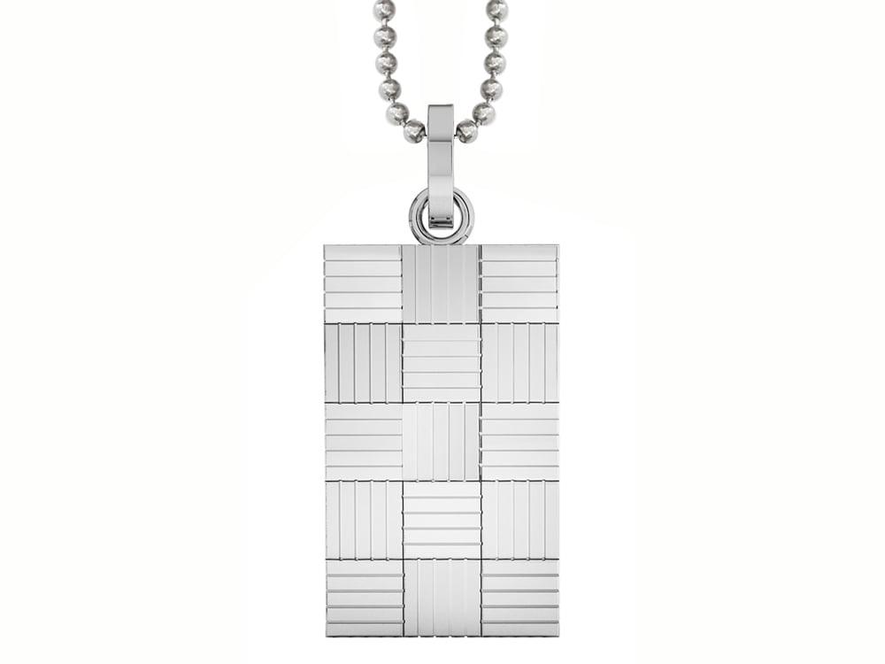 Halsband Inori Checkers Steel - utan gravyr
