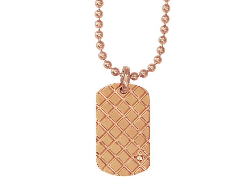 Halsband Inori Cubic Rose Gold - utan gravyr