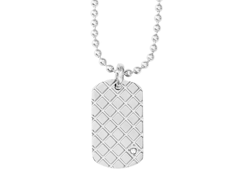 Halsband Inori Cubic Steel - utan gravyr