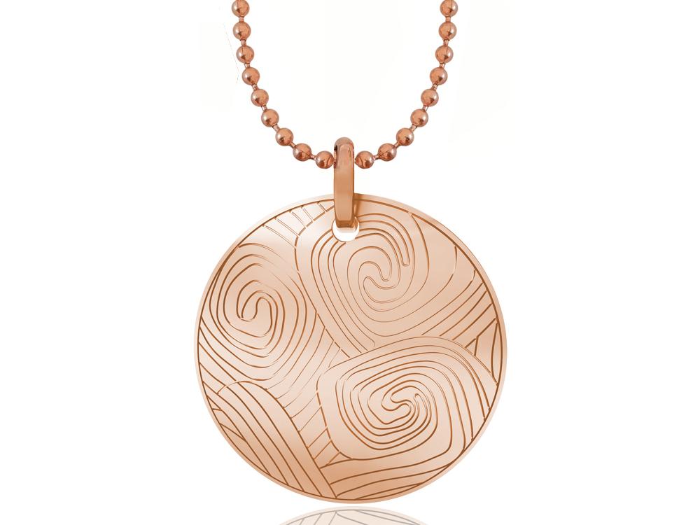 Halsband Inori Pipeline Rose Gold ? utan gravyr
