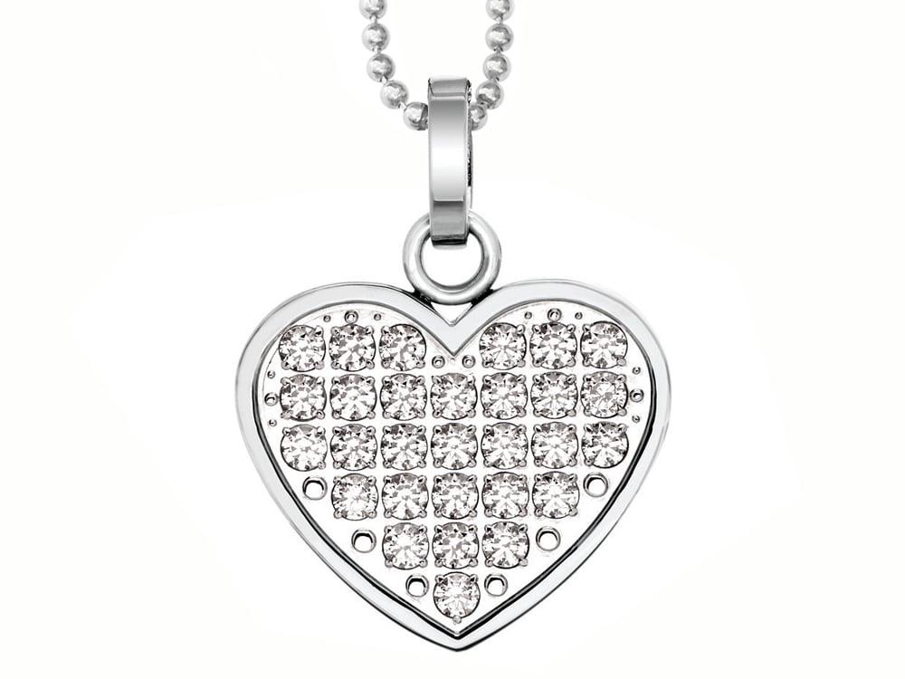 Halsband Inori Sparkly Heart - utan gravyr