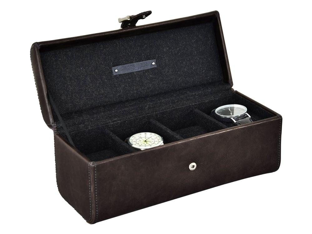 Klocklåda Jacob Jones Cambridge Grey 4 klockor – utan gravyr