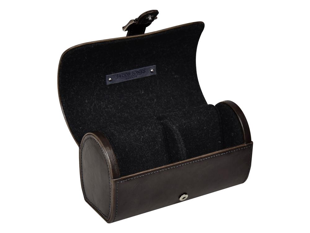Klockbox Klockförvaring Resa Jacob Jones Cambridge Grey – utan gravyr