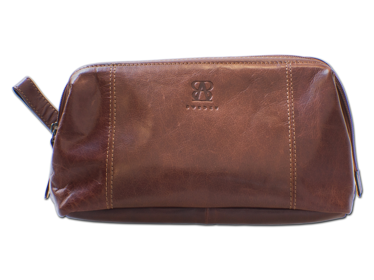 Necessär B Away Leather Brown - utan gravyr
