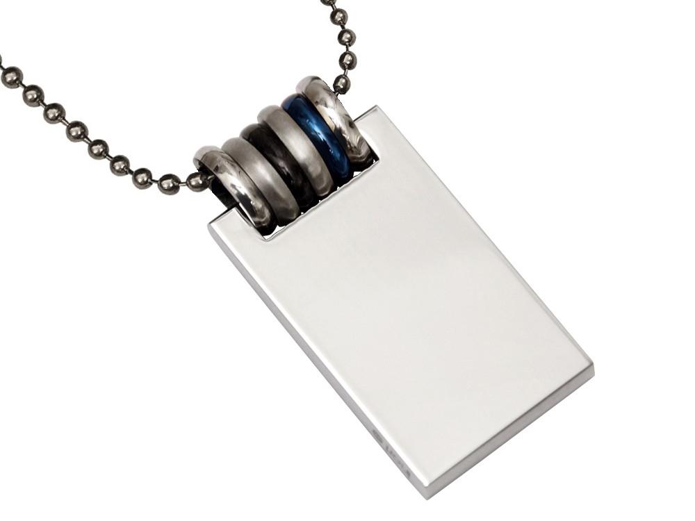 Halsband Inori Ocean Steel - utan gravyr