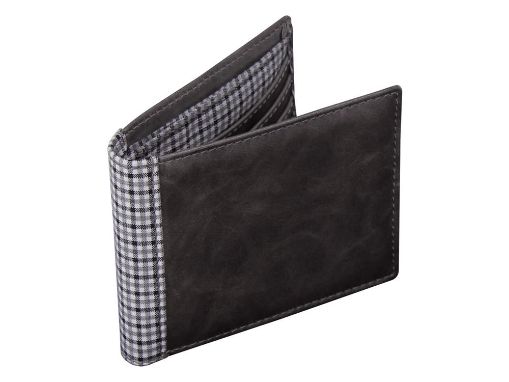 Plånbok Jacob Jones Grey & Check – utan gravyr