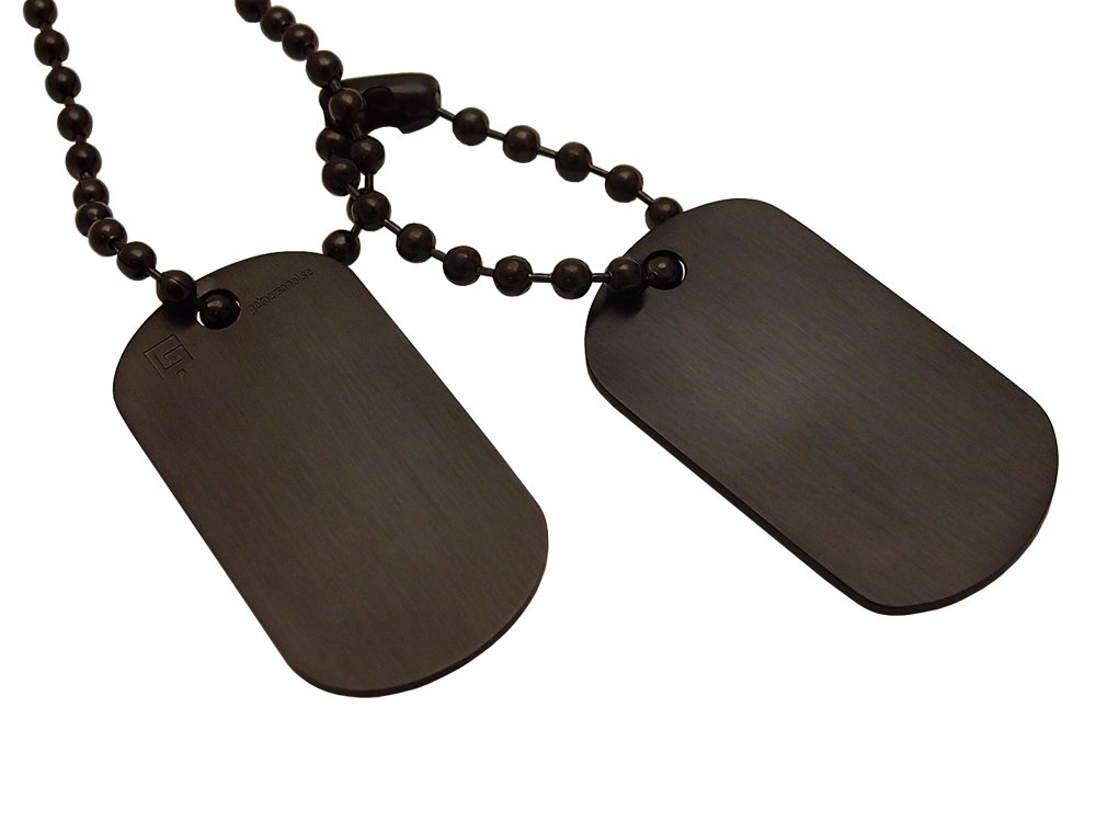 Dogtags Private Steel Black ? utan gravyr
