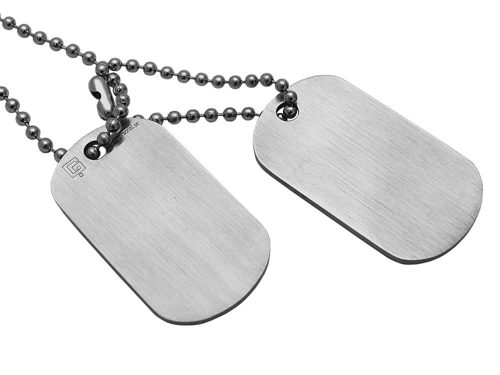 Dogtags Private Brushed Steel