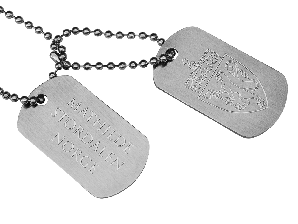 Dogtags Private Steel Norwegian Coat of Arms ? utan gravyr