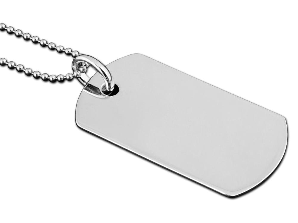 Halsband Silver Tag ? utan gravyr