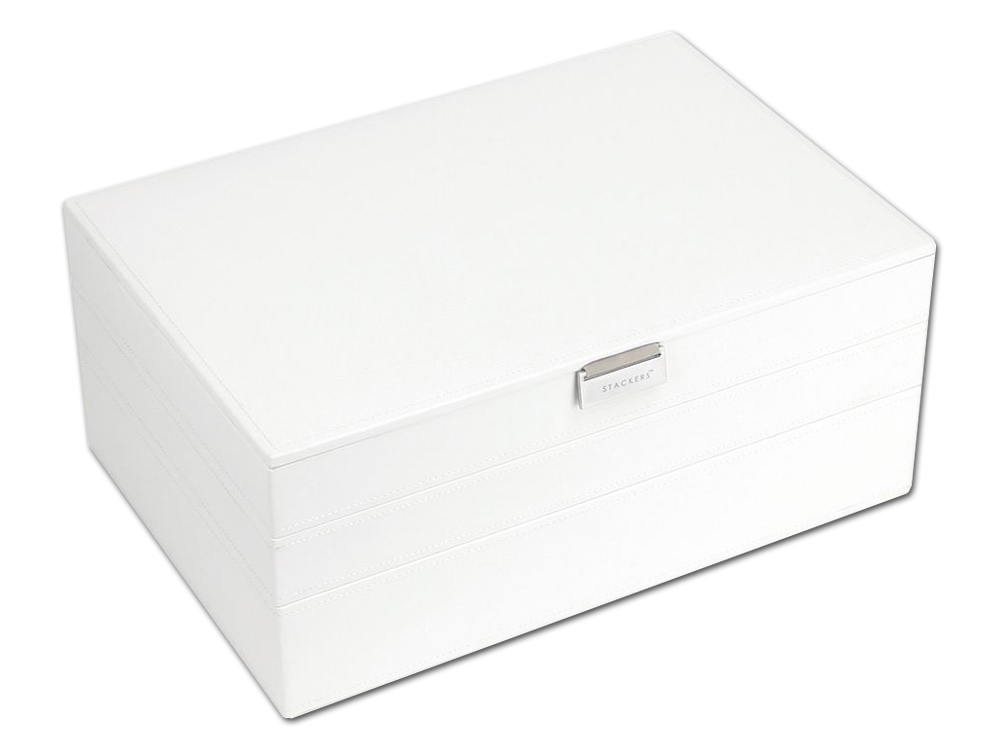 Smyckeskrin Stackers Supersize 3-set White & Grey - utan gravyr