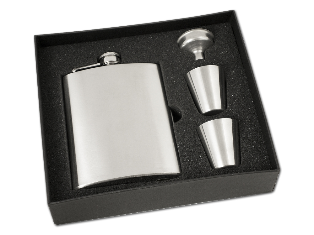 Fickplunta Steel Flask Gift Box ? utan gravyr