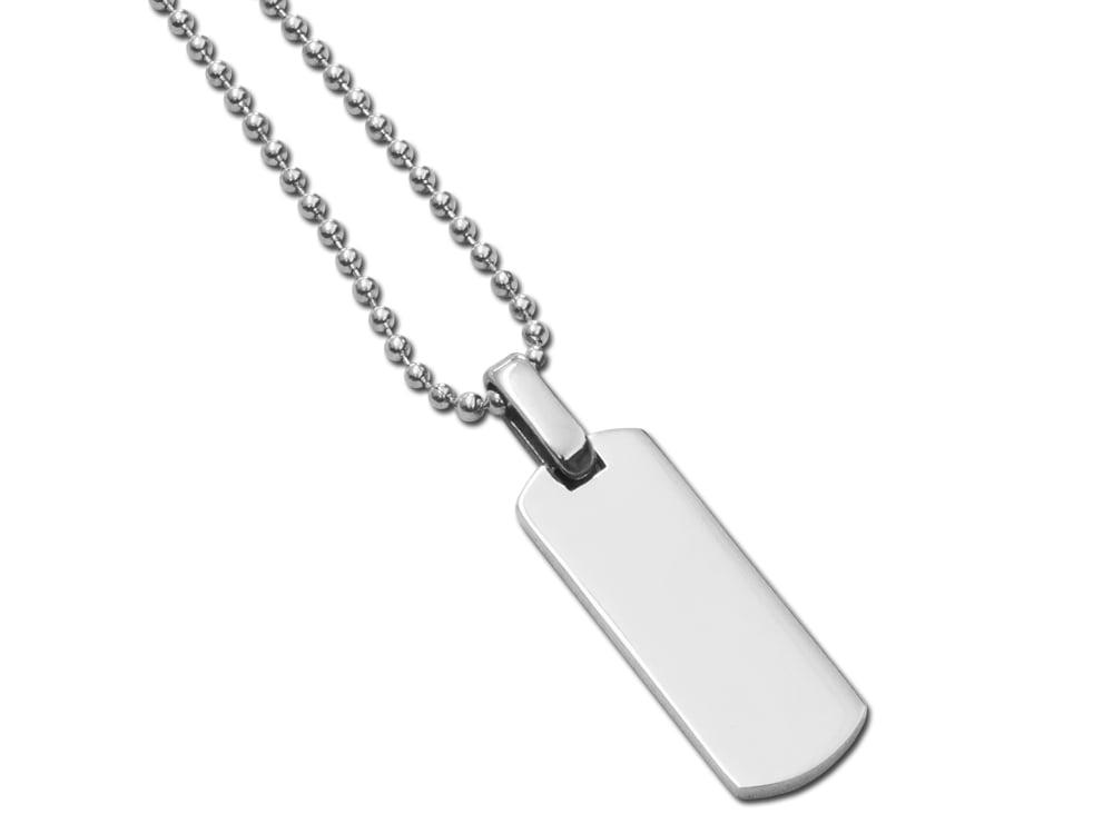 Halsband Steel Tag Mini ? utan gravyr