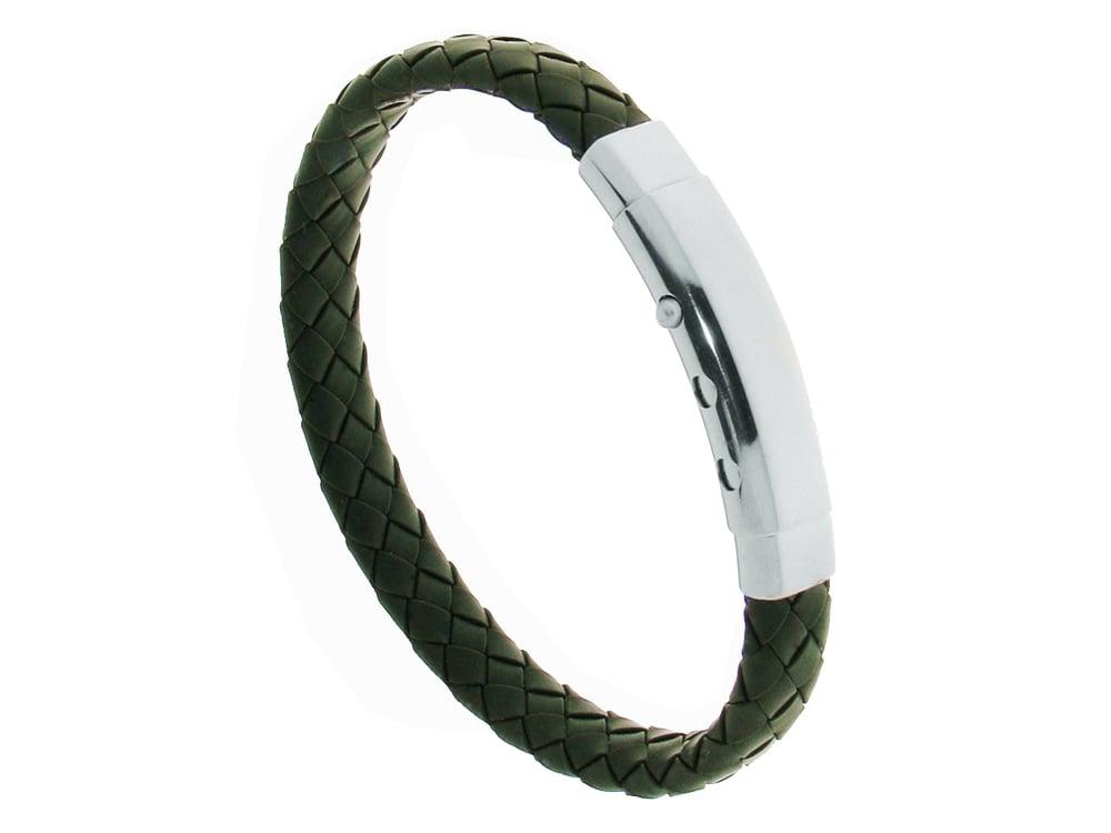 Armband Verona Military Green ? utan gravyr