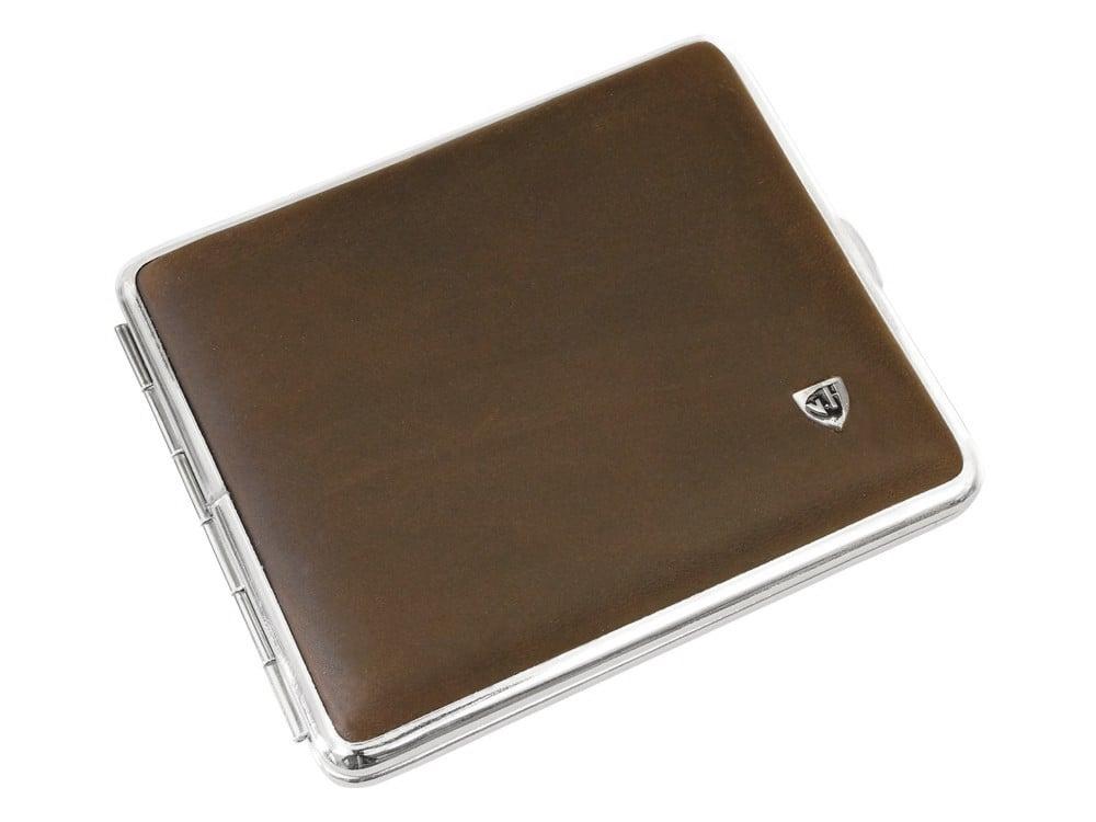 Cigarettetui VH Brown Leather Matte ? utan gravyr