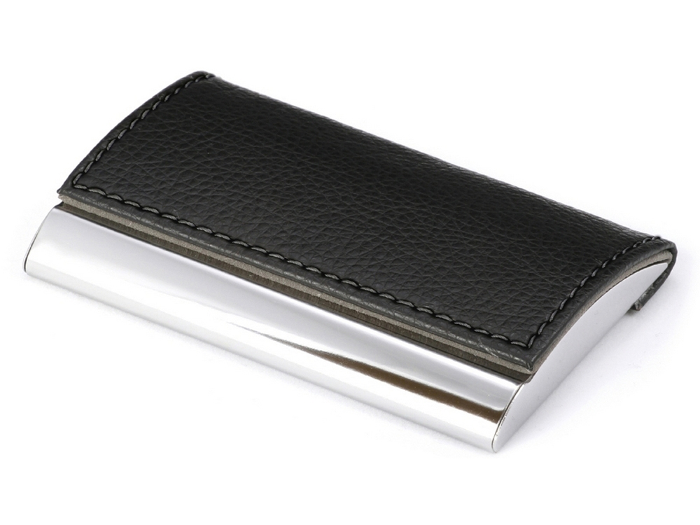 Visitkortshållare Ural Leather Black – utan gravyr