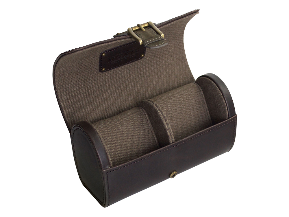Klockbox Klockförvaring Resa Jacob Jones Brown & Khaki – utan gravyr